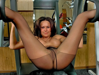 gym in pantyhose